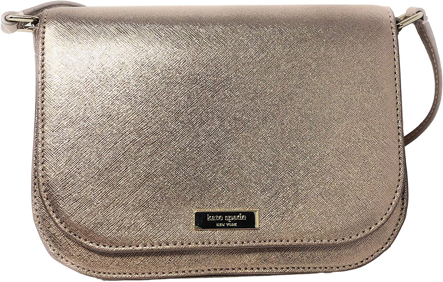 Kate Spade New York Large Carsen Laurel Way Leather Crossbody Bag in Rose Gold