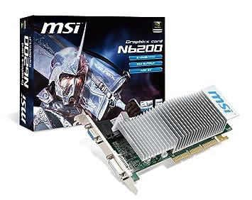 MSI V809-444R - Tarjeta gráfica (GeForce 6200, NVIDIA, 350 ...
