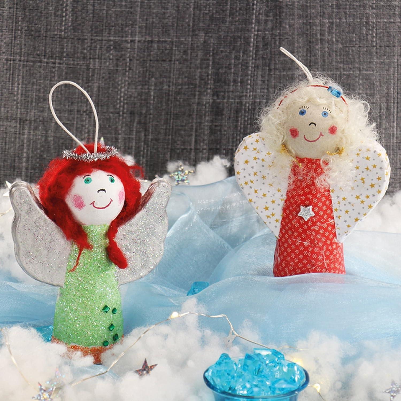 2 verschiedene Motive im Set Dekoration 6er Set ca Pappmache Engel 10 x 13 cm Engel zum Bemalen Engel zum Aufh/ängen Engel Pappe Basteln Weihnachten Engel zum Basteln Deko Engel