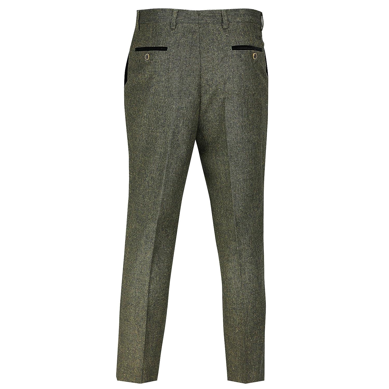 368e5b73 Mens Green Wool Mix Tweed 3 Piece Suit Sold Separately Blazer Trouser  Waistcoat: Amazon.co.uk: Clothing