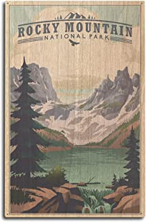 product image for Lantern Press Rocky Mountain National Park, Colorado - Lake - Lithograph (10x15 Wood Wall Sign, Wall Decor Ready to Hang)