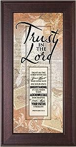 """Dexsa Framed Art-Words of Grace-Trust in The Lord (8"""" x 16"""")"""