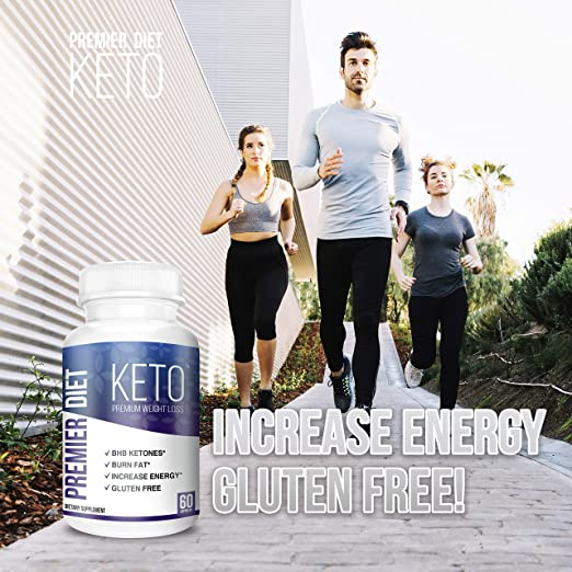 increase energy gluten free premier diet keto supplement, image of three fit people jogging