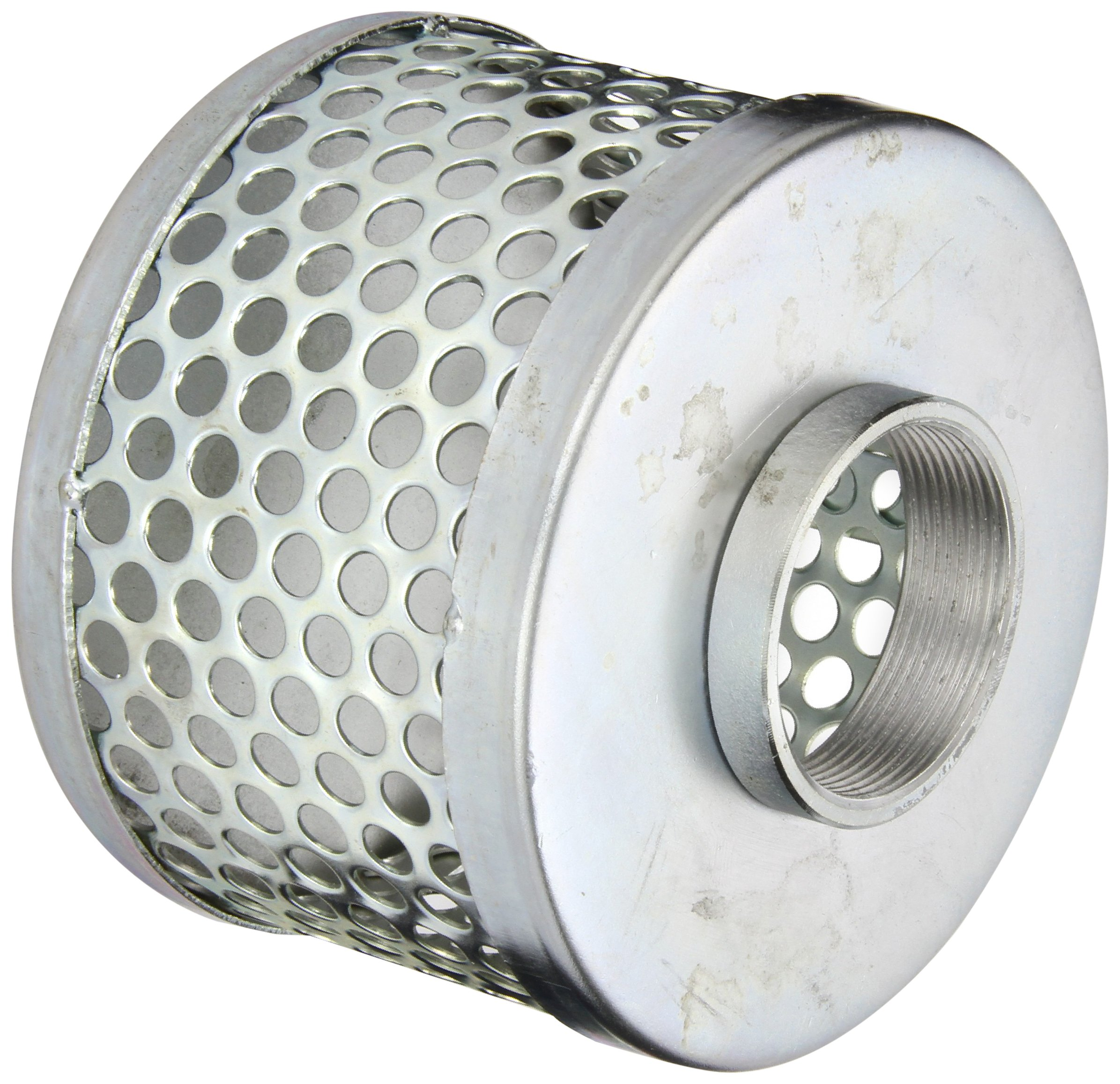 PT Coupling Carbon Steel Round Hole Pump Suction Strainer, 2''