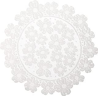 product image for Heritage Lace Round Dogwood Doily, 14-Inch, White, Set of 2