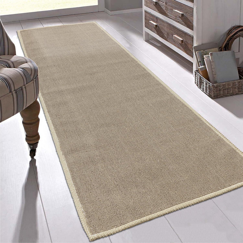 Ottomanson K10008-20X59 Nature Cotton Kilim Collection Solid Dark Brown Design 20 X 59 Runner Area Rug