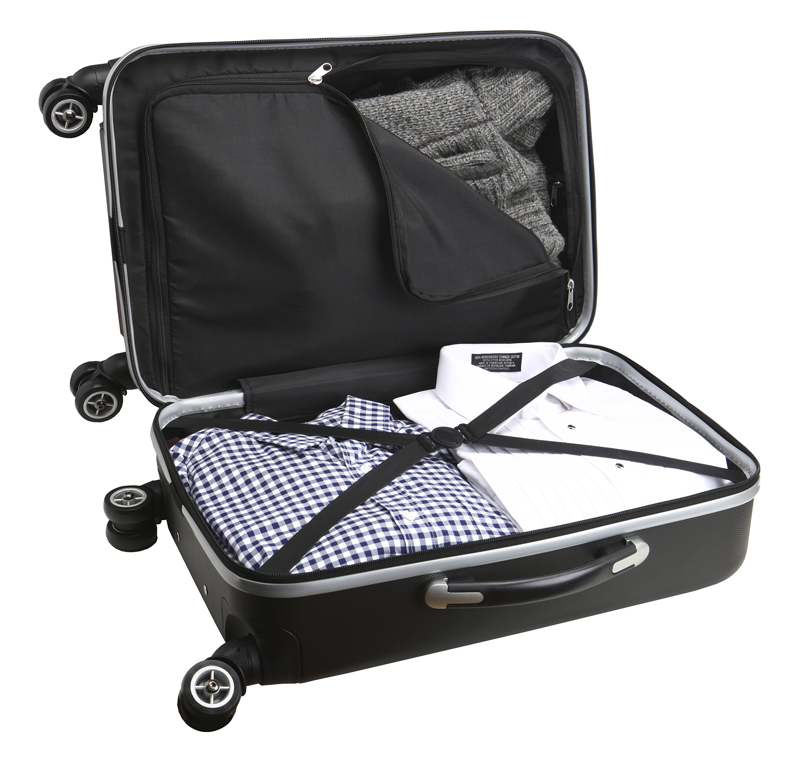 Denco NBA Houston Rockets Carry-On Hardcase Luggage Spinner, Black by Denco (Image #2)