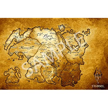 Amazon.com: Best Print Store - Elder Scrolls Map of Tamriel Poster ...