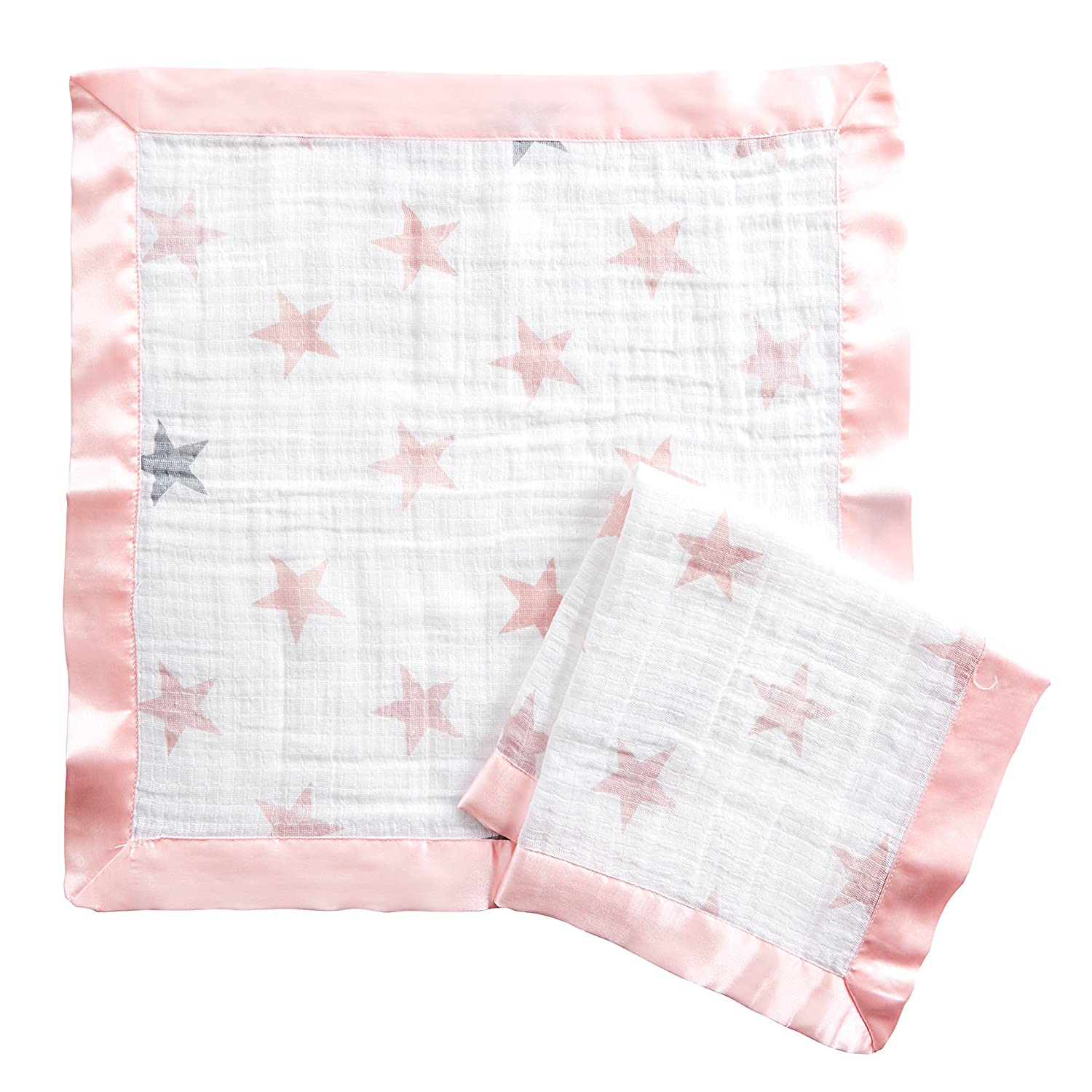 aden by aden + anais issie security blanket, 100% cotton muslin, 2 pack, Minnie bubble Aden and Anais ADISN550GB
