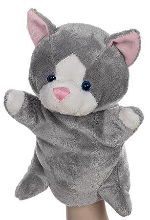 Heunec 391970 Besito - Marioneta de peluche, diseño de gato, color gris: Amazon.es: Juguetes y juegos
