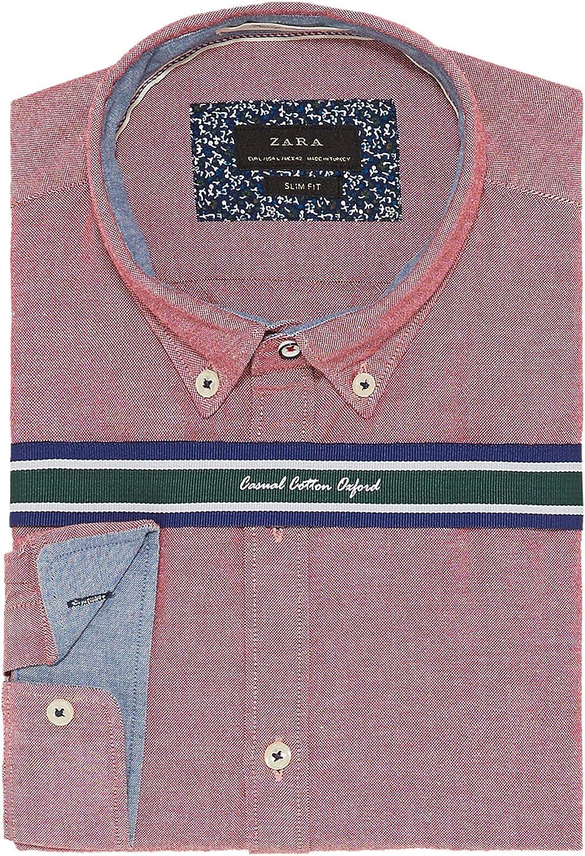 Zara - Camisa de Vestir - para Hombre: Amazon.es: Ropa y accesorios