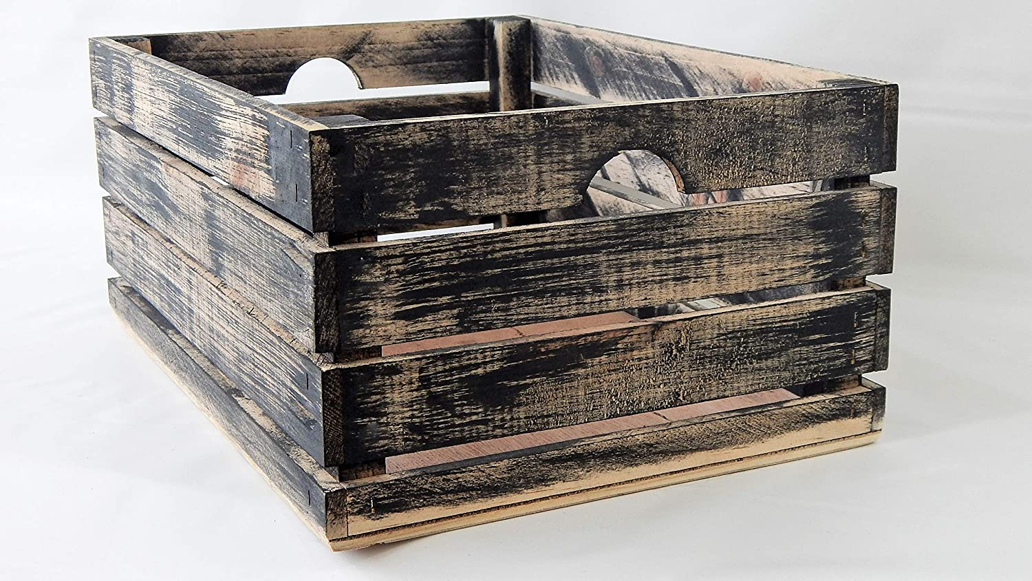 At Home on Main Handmade Rustic Crates (Large) (Black)