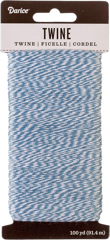 Darice White and Light Blue 100 Yard Twine