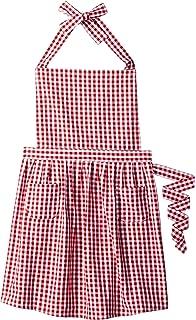 008ed96b38cd Amazon.com: Didi's Kitchen Cotton Apron Checkered Blue & White: Home ...
