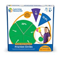 Learning Resources LER1616 Double-Sided Magnetic Fraction Circles