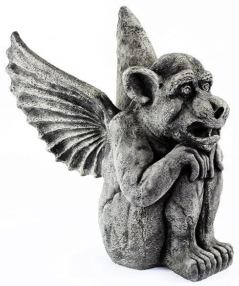 Amazon.com : Winged Dog Gargoyle Concrete Halloween Statue Cement ...