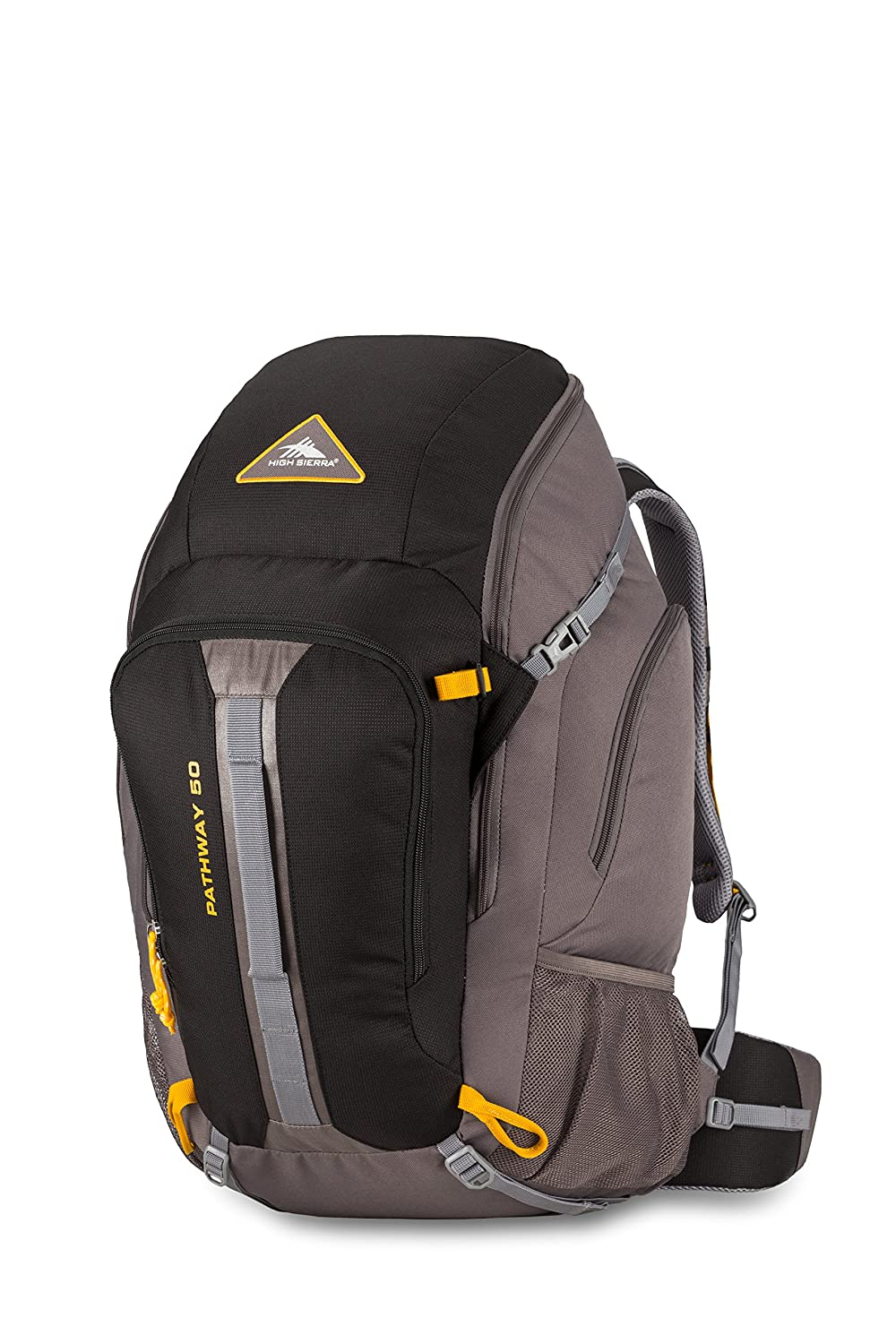 High Sierra 79547-5745 Pathway 50 l Frame Daypack, Black/State/Gold, Checked - Large Samsonite Corporation - CA