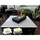 ファイヤーSプレイス バイオエタノール暖炉 0.5L【ISO 9001認定工場にて製造】 有害物質が出ない安心・安全でエコな暖房器具 (ブラック)