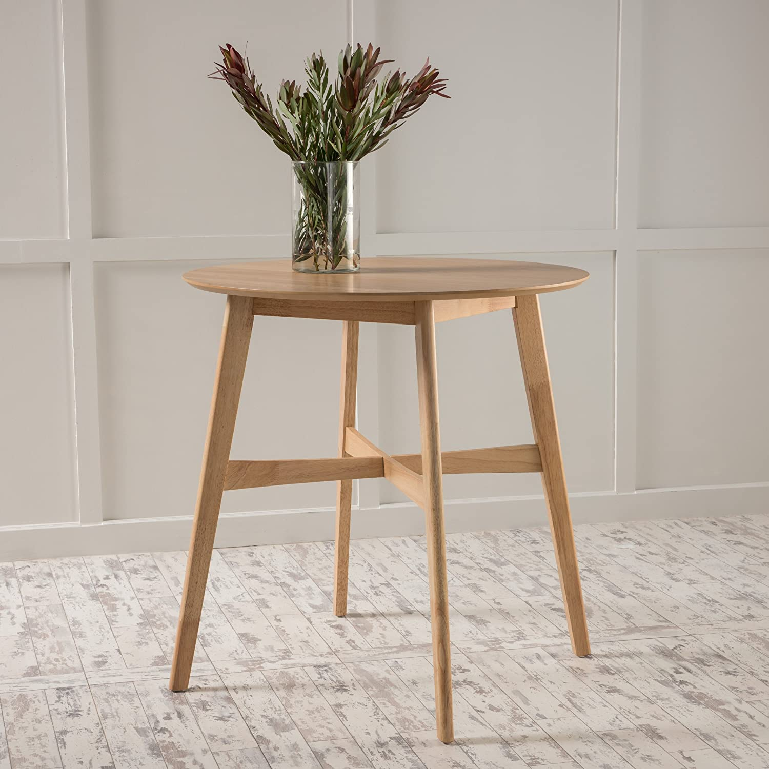 Amazon com helen natural oak finish wood counter height table chairs