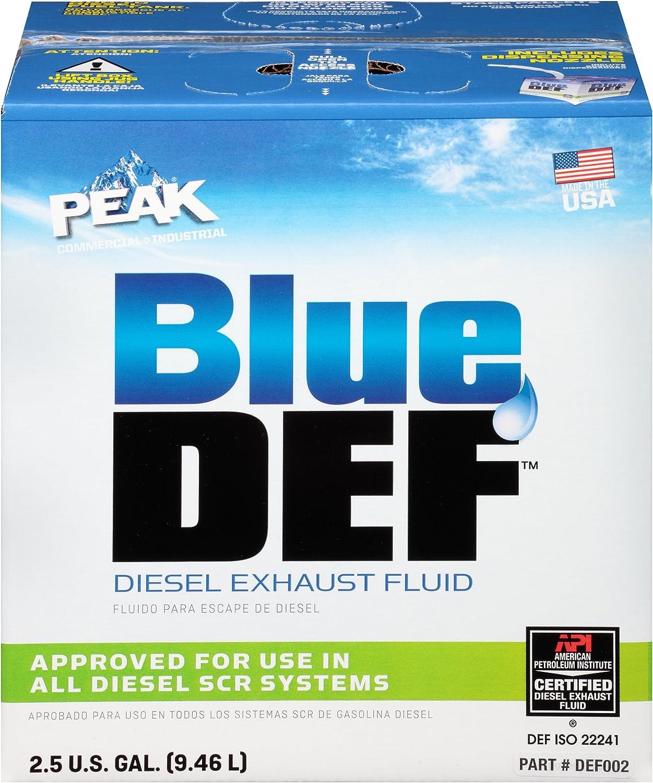 Amazon Com Peak Bluedef Diesel Exhaust Fluid 2 5 U S Gallon Automotive