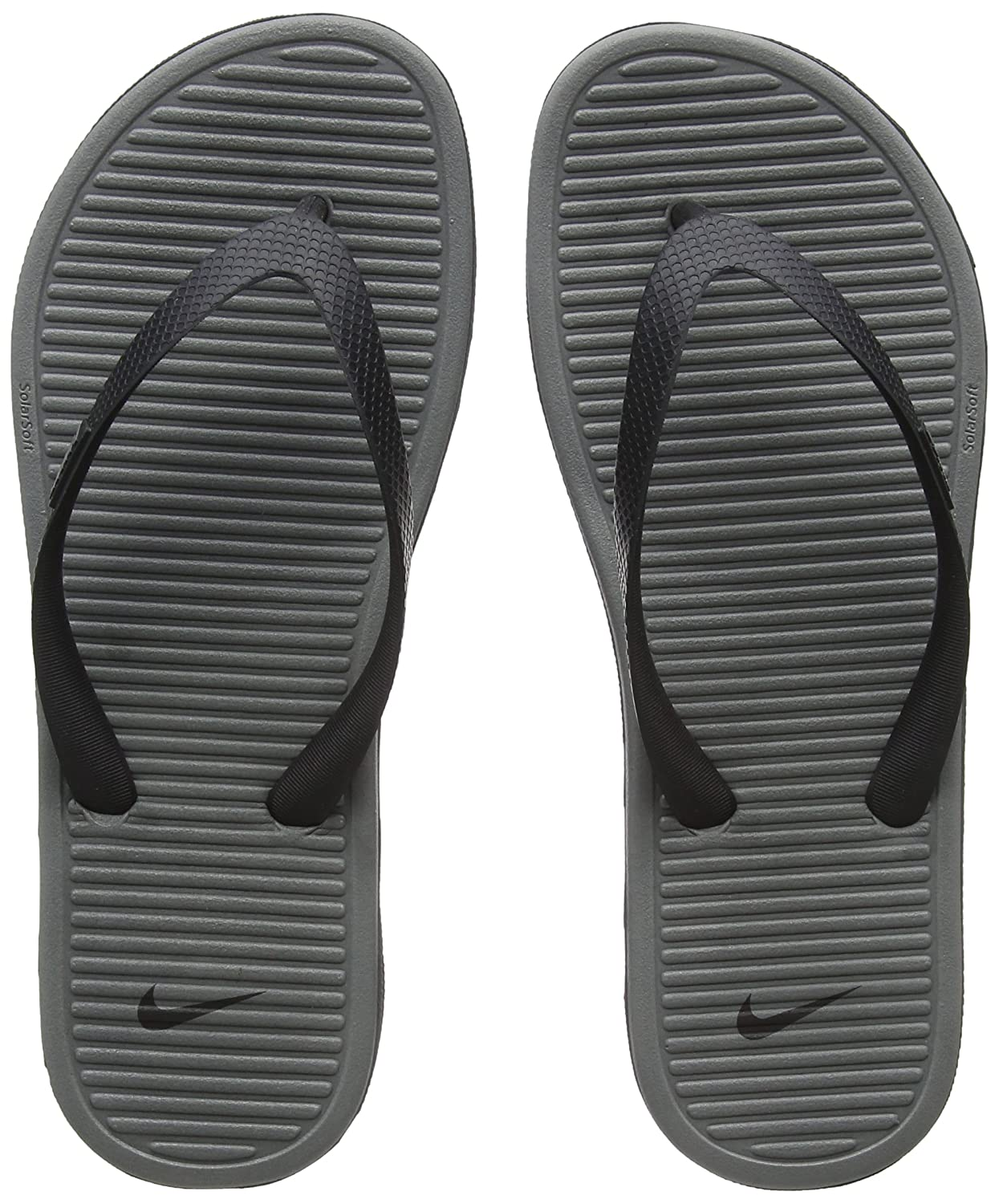 4057397cb41836 Nike Solarsoft Thong II Black Grey Men s Sandals Flip Flops Size 11  Buy  Online at Low Prices in India - Amazon.in