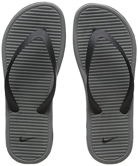 30adaf39b9 Nike Solarsoft Thong 2, Scarpe da Fitness Uomo, Multicolore (Black/Cool Grey
