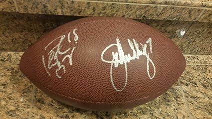 Image Unavailable. Image not available for. Color    JOHN ELWAY   PEYTON  MANNING   Denver Broncos silver signed NFL football 50420bbaf