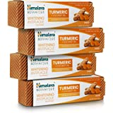 Himalaya Whitening Antiplaque Toothpaste with Turmeric + Coconut Oil for Brighter Teeth, 4 oz, 4 Pack