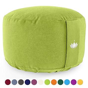 Cuscino Da Meditazione.Lotuscrafts Cuscino Meditazione Yoga Lotus Altezza 20 Cm Rivestimento In Cotone Lavabile Ripieno Di Farro Cuscino Yoga Meditazione Cuscino