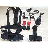 MoYin 运动相机配件GOPRO HERO5/4/3+/3/2 配件组合套装 胸带 头带 吸盘gopro配件