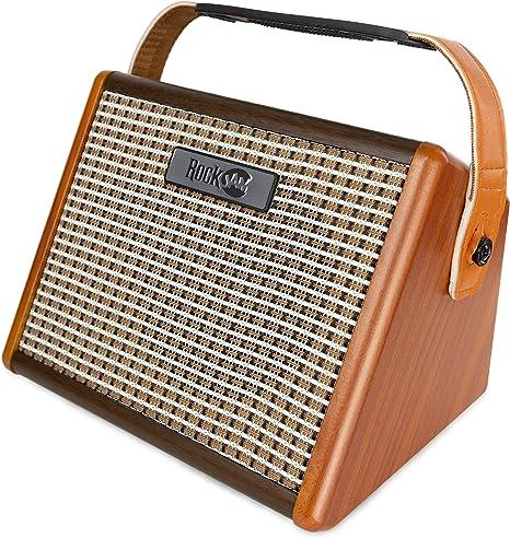 RockJam Amplificador de guitarra recargable de 15 vatios con Bluetooth y entrada de micrófono: Amazon.es: Instrumentos musicales