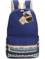 Leaper Cute Lightweight Canvas Laptop Bag Shoulder Bag School Backpack