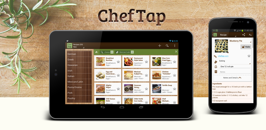 Amazoncom ChefTap Recipes Grocery Lists Appstore for Android