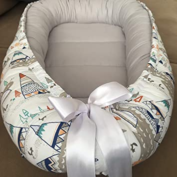 4 Days Delivery Baby Nest Bed Mountains Babynest Bed Newborn and Toddler Size Baby Sleeper Co Pod Baby Girl Bed Baby Boy Nest Baby Shower Gift Cocoon Snuggle Bed Babynest