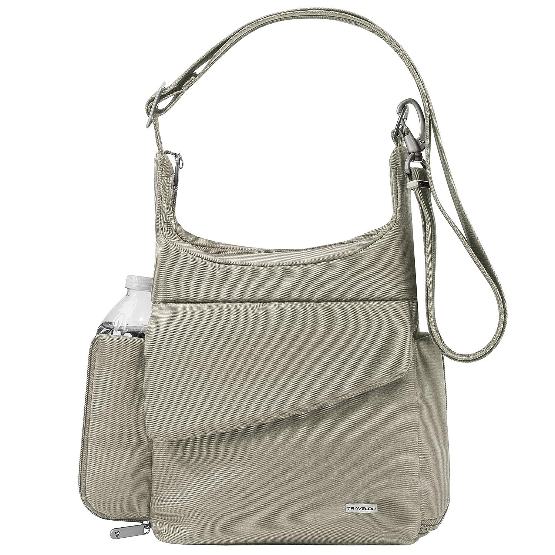 Travelon Anti Theft Classic Messenger Bag, Stone, One Size by Travelon