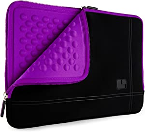 SumacLife 15.6inch Shock Absorbing Purple Laptop Sleeve Suitable Lenovo IdeaPad, Flex, ThinkPad, Yoga, Legion, V Series