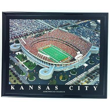 Frame Football Kansas City Chiefs Aerial Arrowhesd Stadium Print Wall Art F7559A
