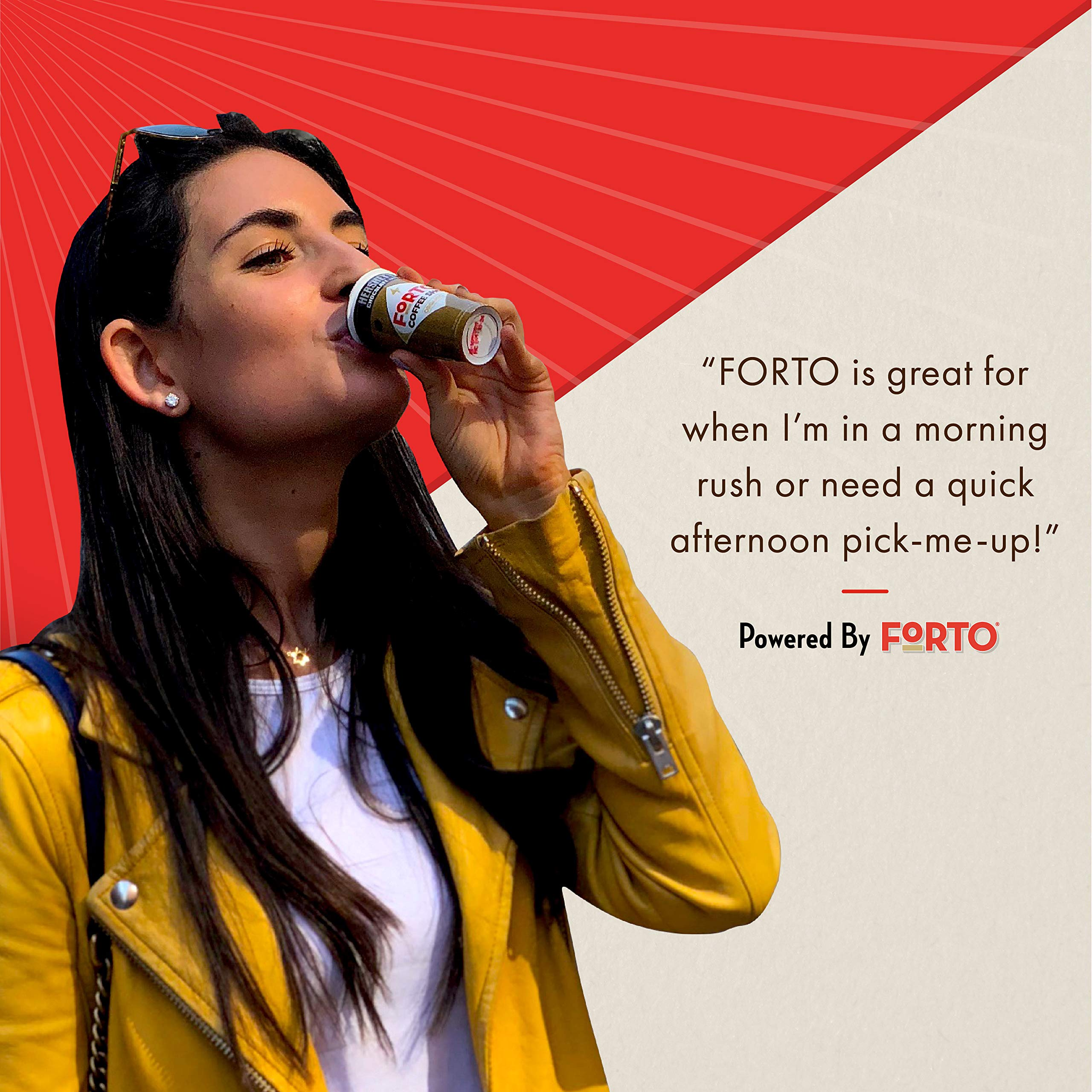 FORTO Coffee Shots - 200mg Caffeine, Variety Pack, High Caffeine Cold Brew Coffee, Bottled Fast Coffee Energy Boost, 12 Pack by FORTO