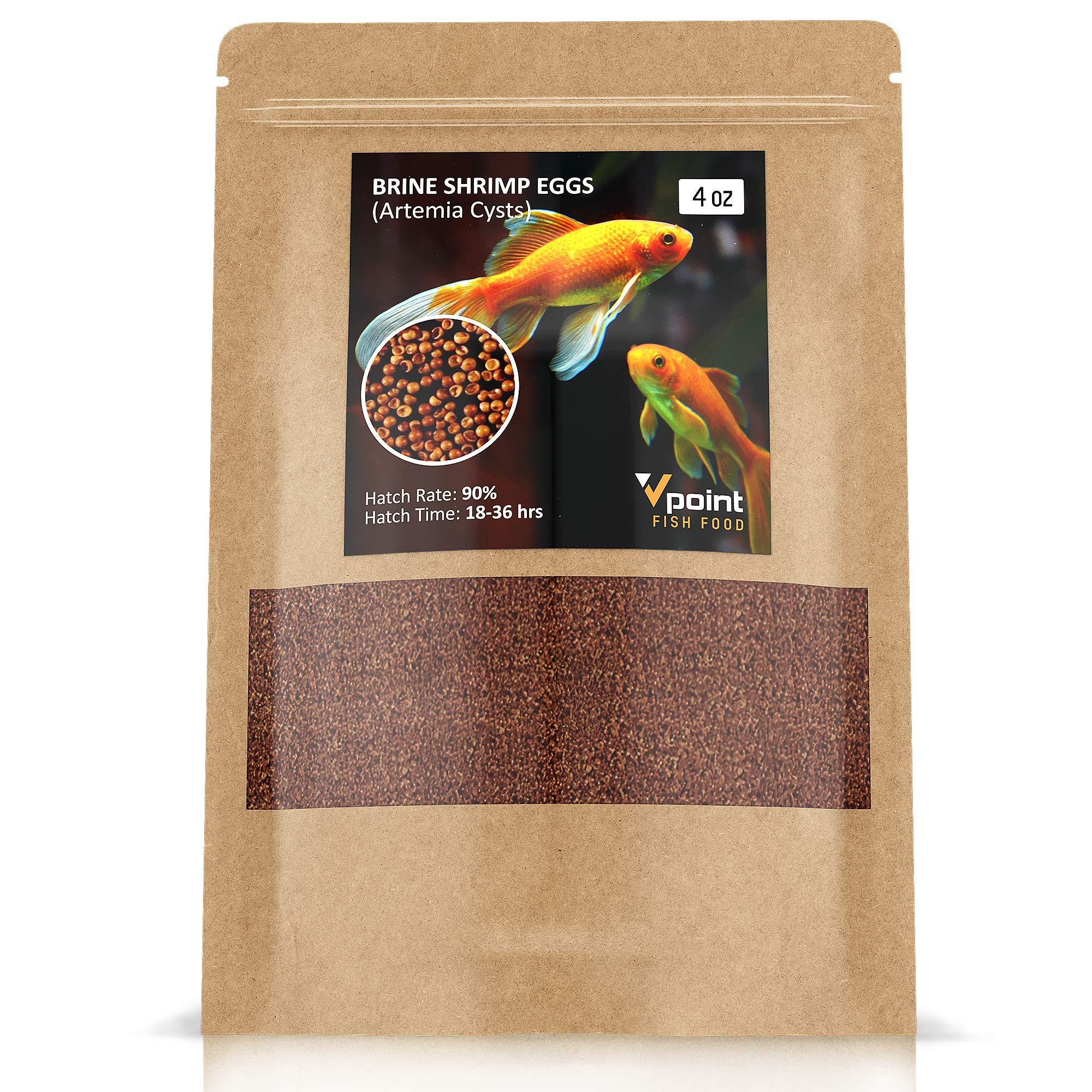 VPoint Brine Shrimp Eggs – Artemia Cysts of 90% Hatch Rate – Aquatic Foods Baby & Fry Foods - Great Live Fish Food for Freshwater Fish, Saltwater Fish, Fry, etc.