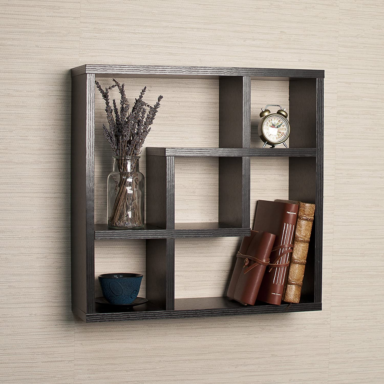 Amazon.com: Geometric Square Wall Shelf With 5 Openings: Home U0026 Kitchen