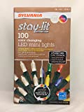 Sylvania Christmas Lights 3-function Color Changing Warm White Multi Color Connectable LED Mini Lights 100 count (1 box (100 count))