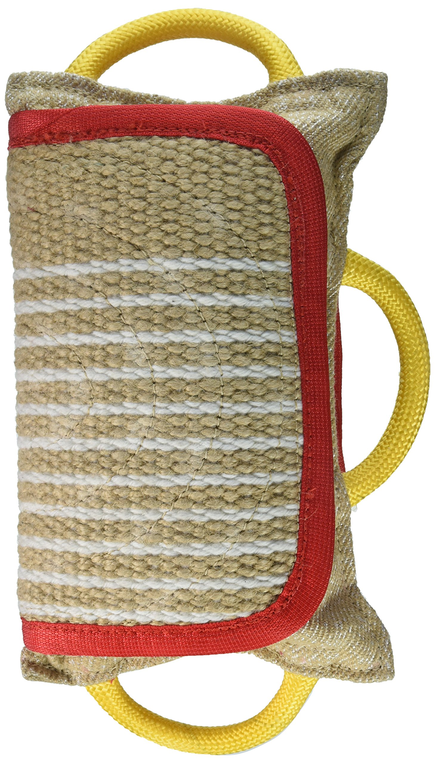 Dean & Tyler Pro Bite Natural Color Jute, Extra Wide Pad Collar, 14.5 by 10.5-Inch