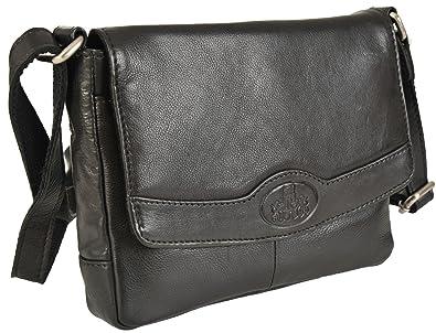Rowallan Cuir Souple Noir Petit sac bandoulière 9876: Amazon