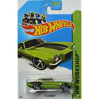Hot Wheels 2014 Muscle Mania Hw Workshop Green '70 Camaro 231/250: Toys & Games
