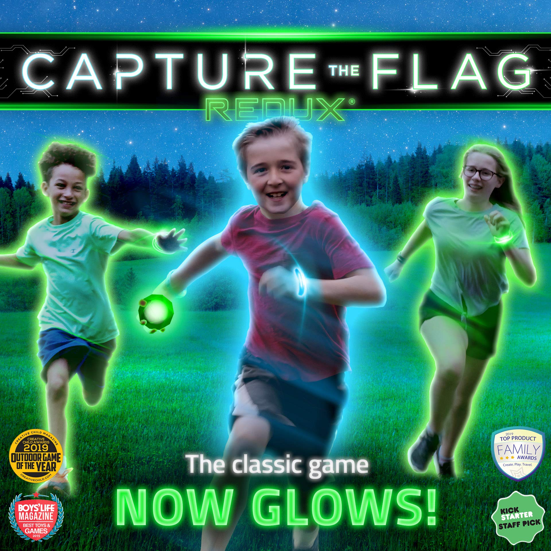 Capture the Flag REDUX: The Original Glow-in-The-Dark Outdoor Game for Birthday Parties, Youth Groups and Team Building - a Unique Gift for Teen Boys & Girls by Starlux Games