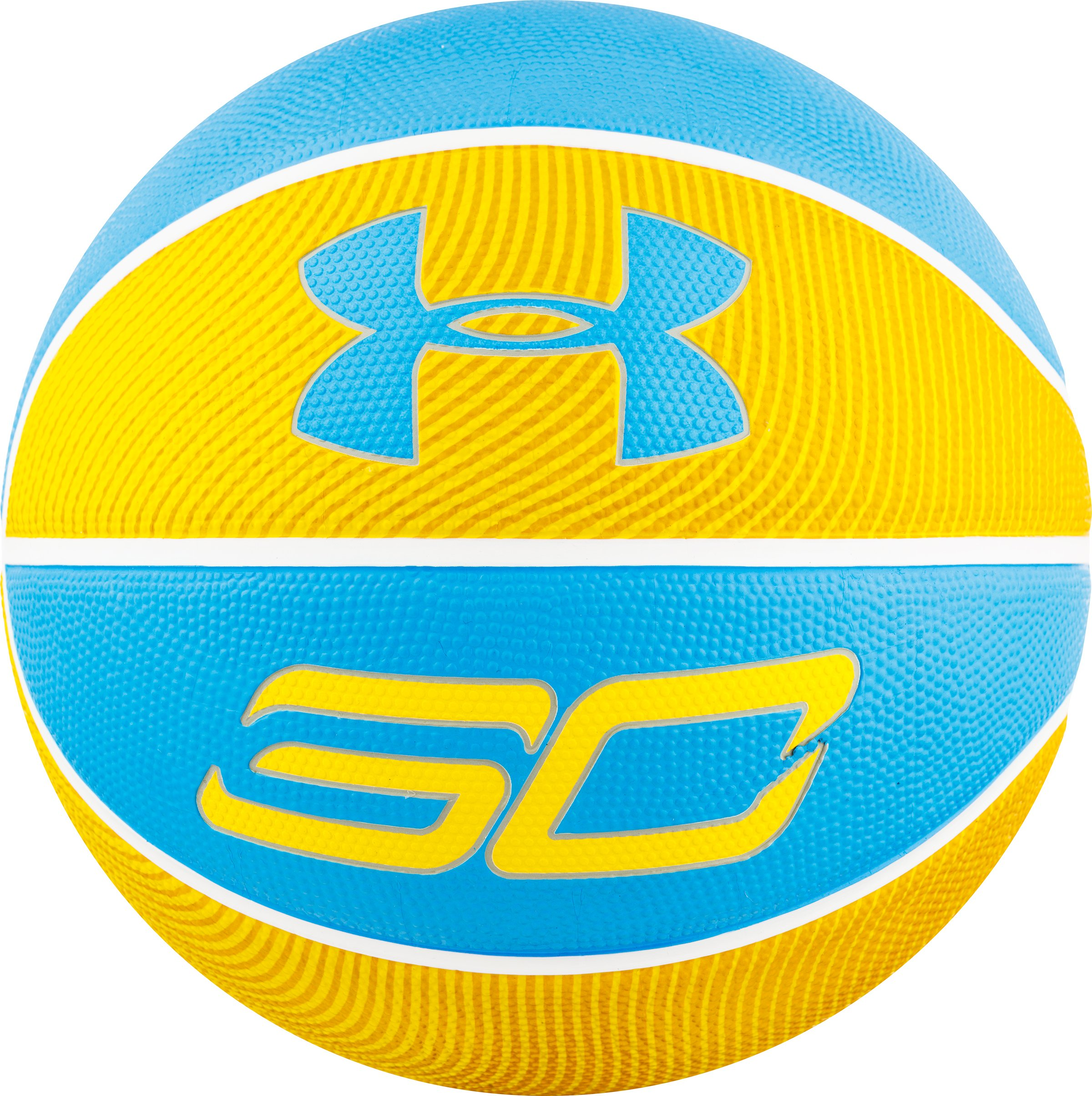 Under Armour Stephen Curry Player Outdoor Basketball,Yellow/Blue,27.5 / YOUTH SIZE / SIZE 5