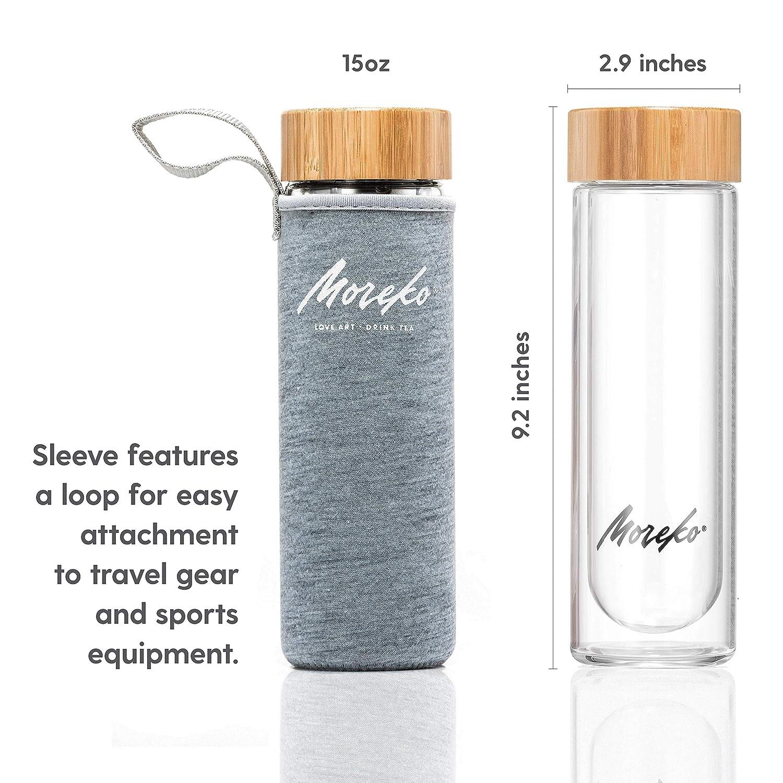 HKDBZ Travel Drinkware Portable Double Wall Glass Tea Bottle Tea Infuser Glass Tumbler Stainless Steel Filters The Tea Filter