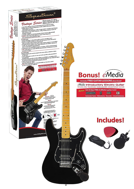 Espectro ail 79 V-S Vintage Series Guitarra eléctrica estilo ST con ampliado variación de tonos, Ultra, color negro: Amazon.es: Instrumentos musicales