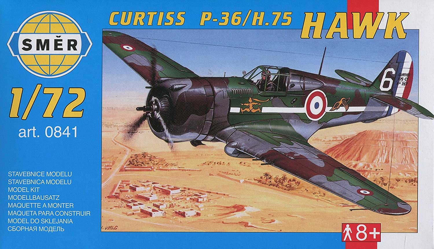 Smer Curtiss P-36 / H.75 Hawk in USAAF and French (1/72 Model kit, 0841)