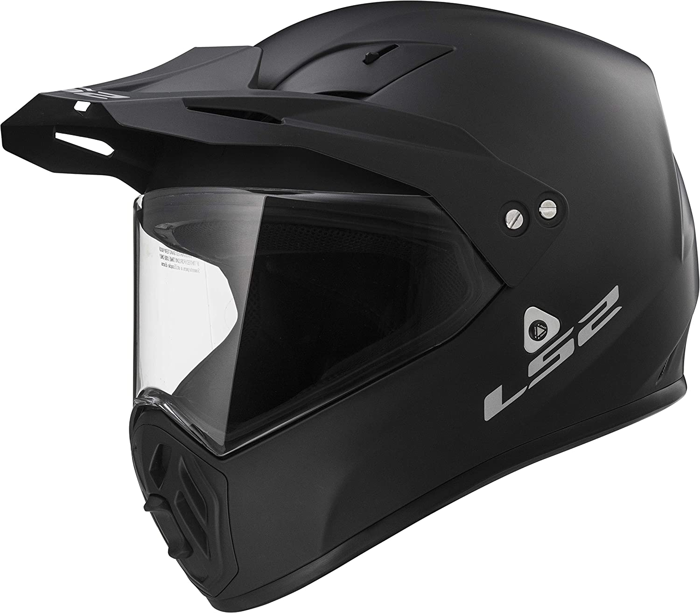 419-1011 Matt Black, X-Small LS2 Helmets Solid Unisex-Adult Full-Face-Helmet-Style OHM Adult